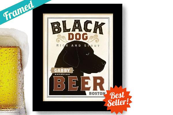 Black Dog art print from Dex Mex Art Prints.
