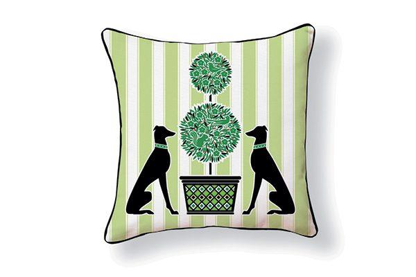 Naked Decor Garden Greyhound Pillow.