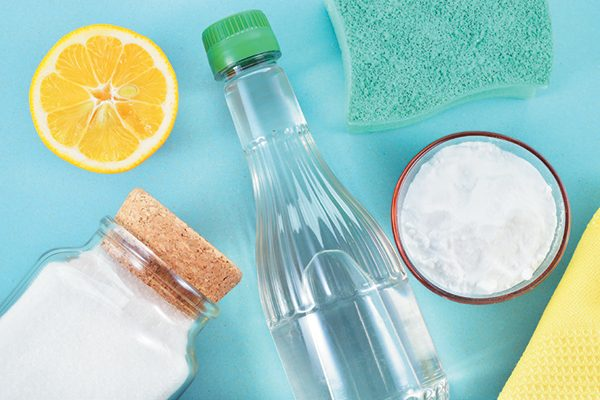 Vinegar, baking soda and hydrogen peroxide are great ingredients for mixing your own cleaners. Photography ©Geo-grafika | Getty Images.