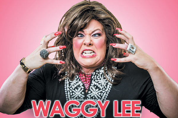Lisa's comedic talent is on full display with the in-your-face stylings of dog trainer Waggy Lee. Photography ©Craig Tovey.