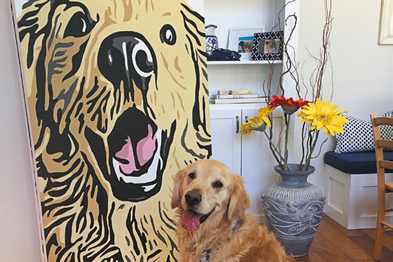 Artistic Aire can transform a picture of your dog into a beautiful portrait.