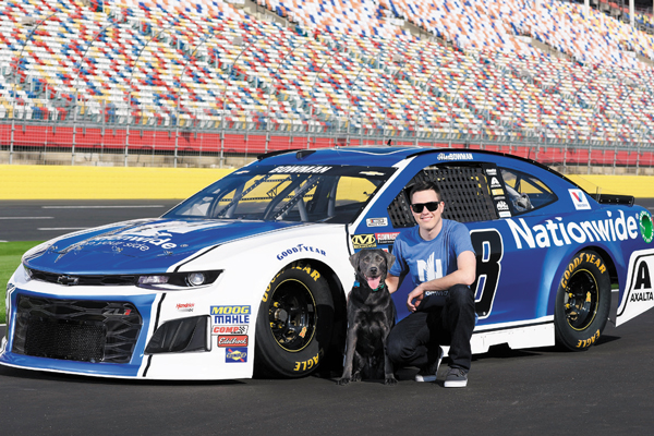 NASCAR driver Alex Bowman is a huge dog person.