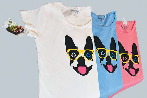 Boston Hips-Terrier Tee by Chopper & Otis.