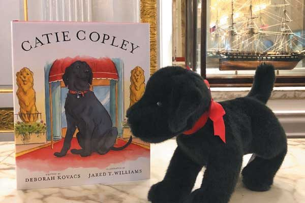 Get a stuffed black Lab toy, just like Carly —  the Fairmont Copley Plaza's canine ambassador — plus a book about her predecessor in the Canine Adventure Package.