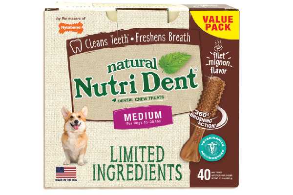 Nylabone Limited-ingredient Dental Chews.