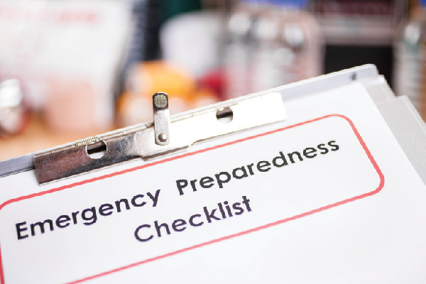 Emergency preparedness checklist.