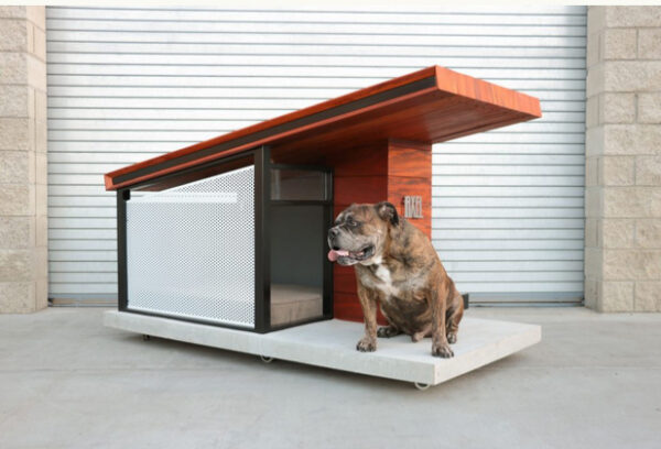 Bulldog Realtors showcases beachside listings and homes for hounds. An architectural doghouse with options for air conditioning and sound filtering (think canine sensitivity to July 4th fireworks) will be on display and available for purchase, made to order. Cost for this starts $3,650 from local LA builder, Taj Rahil.